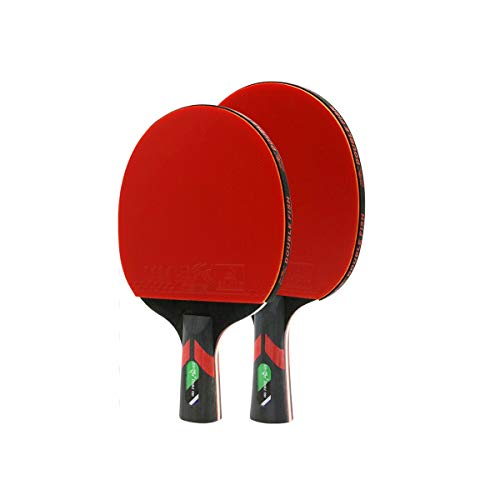 Best Price CHENTAOCS Table Tennis Bat, 2, Horizontal, Pen-Hold, Beginner Student Table Tennis Racket...