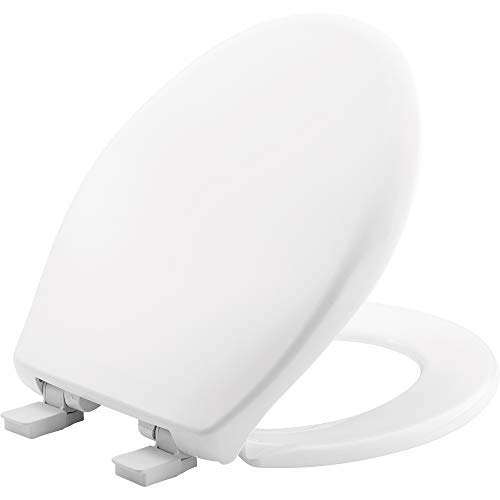 MAYFAIR 887SLOW 000 Slow Close Removable Toilet Seat that will Never Loosen, Providing the Perfect Fit, ROUND, White
