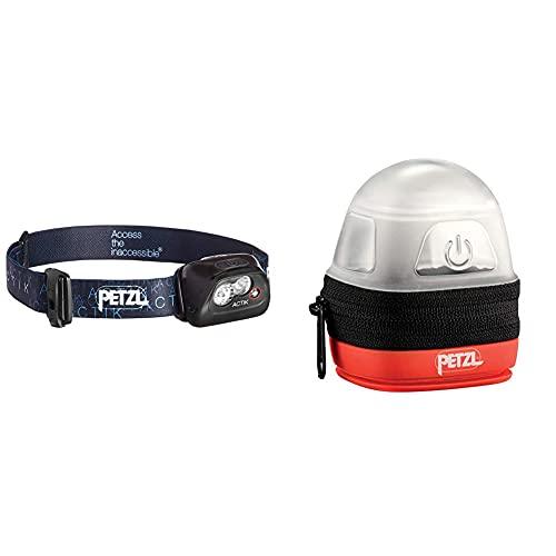 PETZL Actik Linterna Frontal, Unisex Adulto, Negro + -Noctilight, Negro/Naranja