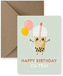 Cu-tea Bubble Tea Birthday Greeting Card