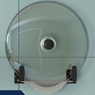 Montado en la pared bastidores de cocina de olla de cocina bastidores bastidores tapa de la olla de cocina condimento estanterías for herramientas bastidores de cocina (Color : Pan Rack)