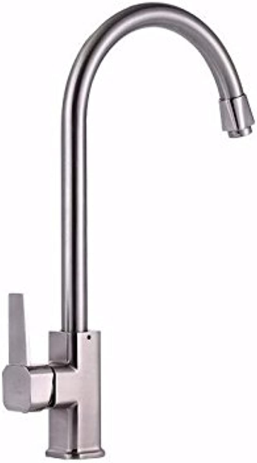 Commercial Single Lever Pull Down Kitchen Sink Faucet Brass Constructed Polished Single Hot and Cold Water Faucet, Kitchen Faucet, Kitchen Dish Hot and Cold Faucet
