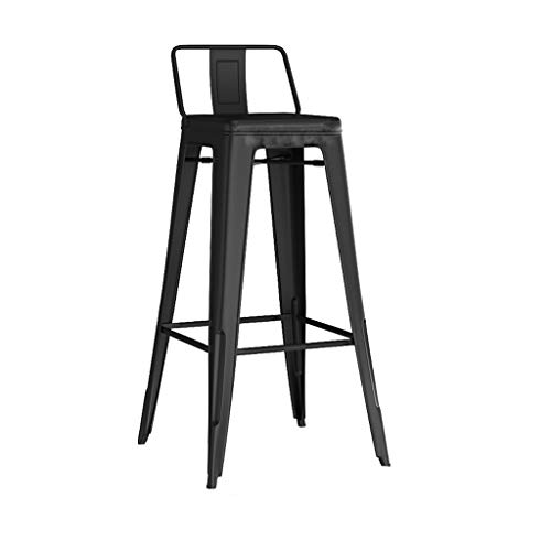 Stijlvolle Lichte Luxe Barkruk Iron barkruk, bar stoel met rugleuning ontbijt stoel en krukken retro kinderstoel industriële stijl meubelen, keuken, bar, café, restaurant (85 * 44 * 44cm) Smeedijzeren