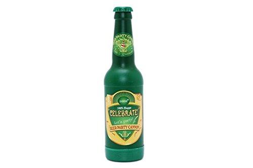 DISOK - Cañon Confetis Dorado En Forma Botella Cerveza