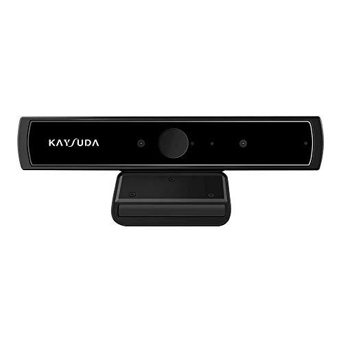 Kaysuda Faccia Riconoscimento USB IR Camera per Windows Hello Windows 10 Sistema, RGB HD Webcam 720p con Microfono per Streaming Video Conferenza e Registrazione per Windows