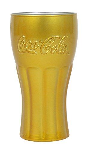 Luminarc 8011354Coca Mirror–Juego de 6Vasos Forma Alta Coca Cola Mirror Gold Capacidad...
