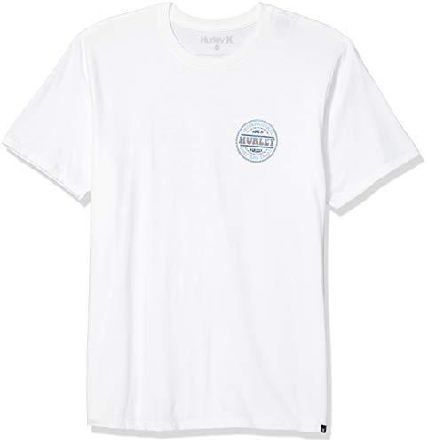 Hurley M PRM Groovy S/S Camiseta, Hombre, White, XXL