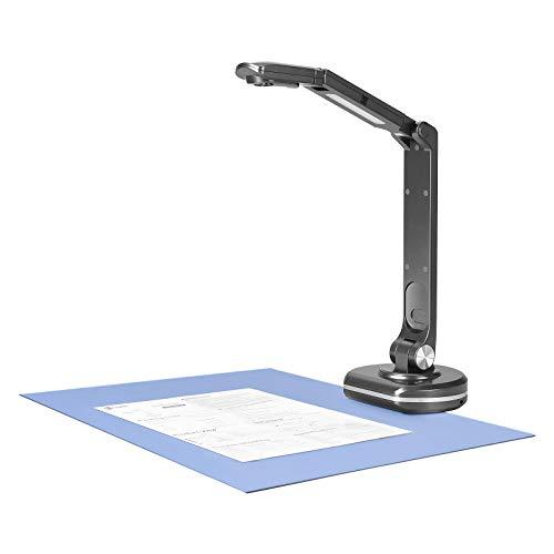 Cámara de documentos portátil y visualizador, escáner de alta definición de 8 megapíxeles A3 plantillas para oficina, educación, clase, biblioteca, banco con zoom, Skype, OBS, G-Suite