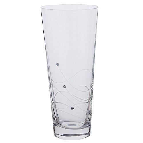 Dartington Crystal Glitz conische vaas, medium formaat