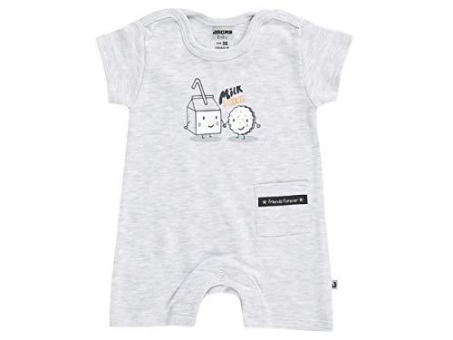 Jacky Unisex Spieler für Babys und Kleinkinder, Größe: 56, Alter: 1-2 Monate, Milk & Cookie, Grau, 4119000