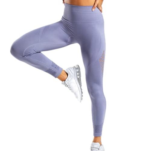 EMPERSTAR Pantalones De Yoga De Malla De Cintura Alta para Mujer Gris L