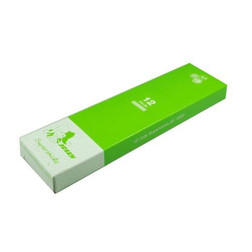 Jolly 3000-0464 Supersticks Buntstifte Kinderfest, neon grün (12er Pack)