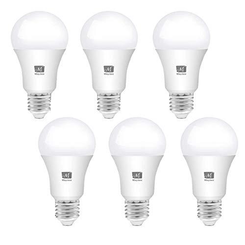 MayJazz 6er Pack A60 9W E27 LED Lampe,60W Glühlampe ersetzt, Kaltes Weiß 4000K 800lm Globaler 270°Abstrahlwinkel nicht dimmbar