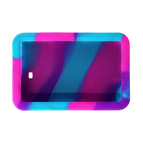 Tandem t:Slim Gel Skin- Made of Soft Silicone to fit snug Around t:Slim X2™ Insulin pumpwith Raised, Beveled Edge Helps Protect Against Scratches and Drops (Pink./ Purple/Turquoise)