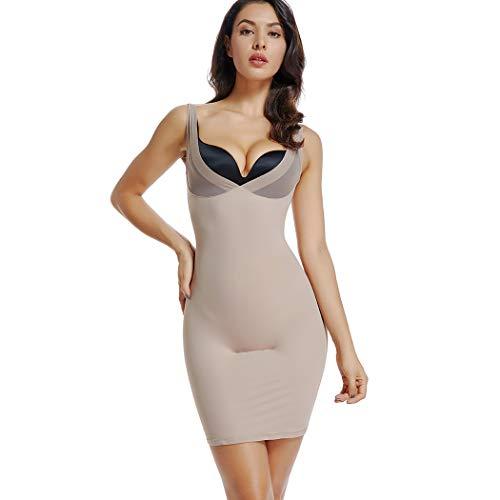 Joyshaper Full Slips for Women Under Dresses Long Plus Size Dresses Shapewear Slip Slimming V Neck Slip