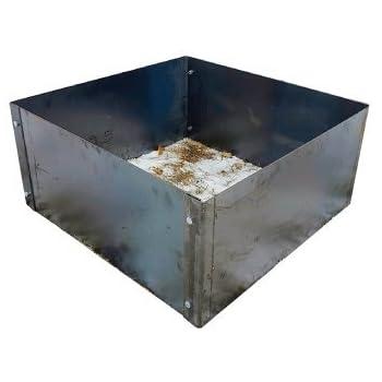 Amazon Com Square Fire Pit Metal Liner 30 X 30 X14 Garden Outdoor