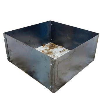 Square Fire Pit Campfire Ring Insert Liner 36 x 36 x 14 Tall