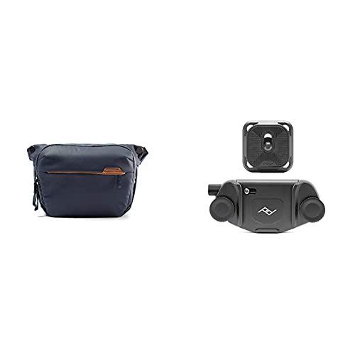 Peak Design Everyday Sling 6L (Mitternachtsblau) BEDS-6-MN-2 & Capture V3, Kameraclip, schwarz