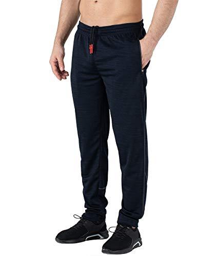 Gopune Mens Gym Sweatpants Stringer Bodybuilding Workout Running Jogger Pants (Black,L)