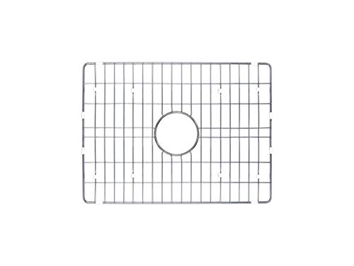 Soleil SSGR-FC24 Single Bowl Fireclay Kitchen Sink Grid in Brushed Stainless Steel