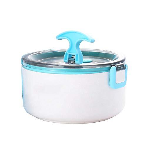 RYDRQF Student Lunchbox Tresor Thermo Brotdose 3-lagig Lunchbox Auslaufsicher Edelstahl Stapelbar Bento-Box BPA-frei für Kinderschule und Erwachsenenbüro Reisen-Blau_1-lagig gsd-130