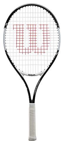 Wilson Aluminum Roger Federer Tennis Racket- 25 inch (Black, White)