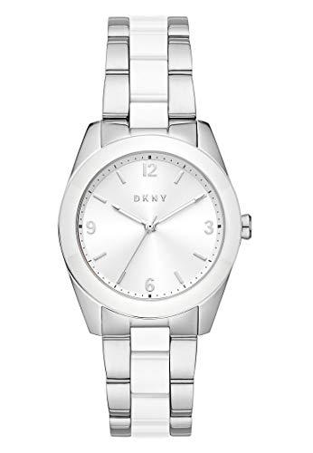 DKNY Damen-Uhren Quarz One Size Silberfarben 32013259