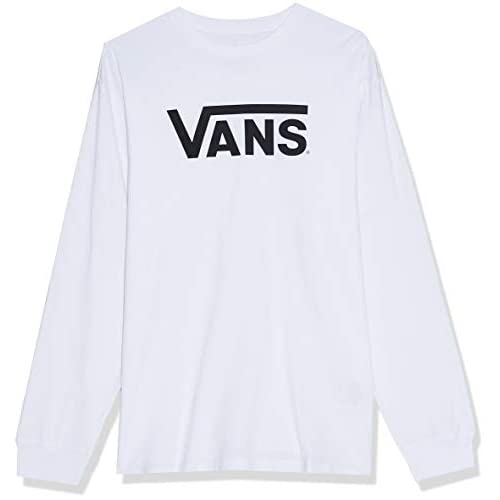 Vans Herren Classic Ls Langarmshirt, Weiß (White/black), Medium