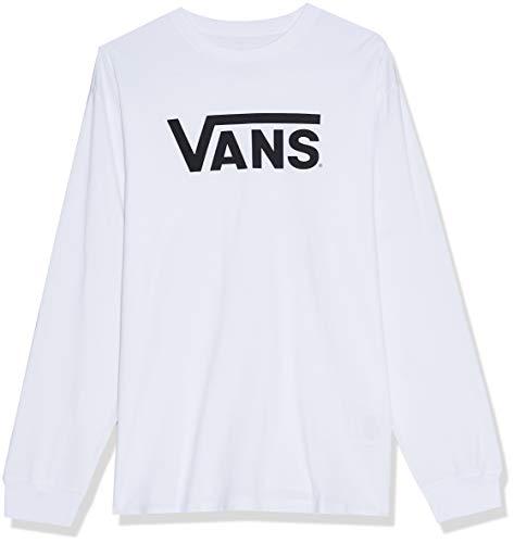 Vans Herren Classic Ls Langarmshirt, Weiß (White/black), Large