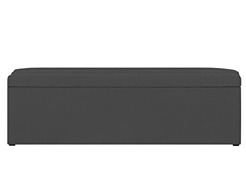 Cosmopolitan-Design Coffre de Rangement, Tissu, Gris, 180 x 34 x 47 cm