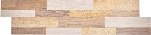 Zelfklevende wandpaneel aluminium metaal houtlook licht achterwand wandpaneel keuken tegelspiegel MOS200-W2211_f