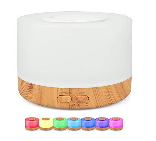 Difusor Aromatizador Umidificador de Ar Ultrassônico Purificador Aroma Difusor Portátil Led 7 Cores