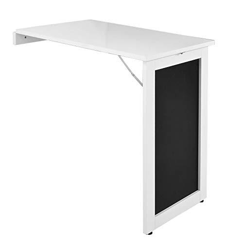 SoBuy FWT20-W Wandtisch in weiß mit Tafel Klapptisch Esstisch Küchentisch Memoboard BHT: 50x76x75cm