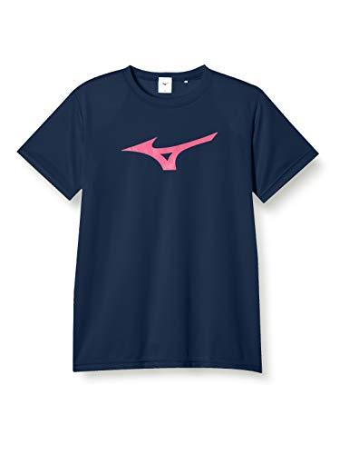 [ミズノ] トレーニングウェア 半袖Tシャツ ビックロゴ 吸汗速乾 ドライ 32JA8155 ドレスネイビー/マゼンタ XL