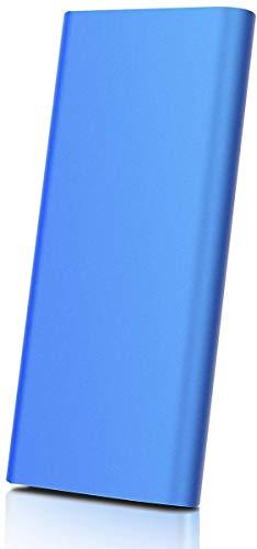 Disco duro externo portátil USB 3.1 de 2 TB, apto para PC, Mac, ordenador de sobremesa, ordenador portátil, MacBook, Chromebook (2TB, Blue)