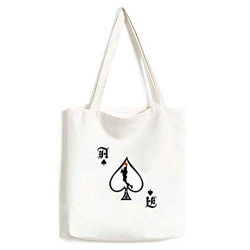 Bolsa de mão esportiva Slam Dunk Basketball Player Craft Poker Spade Canvas Bag Sacola de compras
