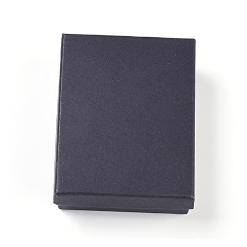 Cajas de joyería de cartón Conjunto Regalos Presente Pantalla de Almacenamiento Cajas de visualización for Collares Pulseras Pendientes Anillos Collar Plaza Rectángulo (Color : 24PCS 9x6.9x2.7cm)