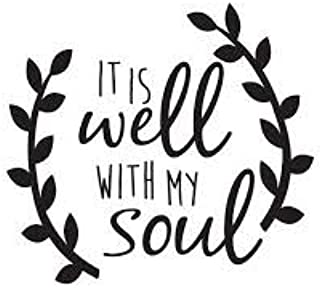 Chase Grace Studio It's All Well With My Soul Christian Bible Vinyl Decal Sticker|BLACK|Cars Trucks Vans SUV Laptops Wall ...