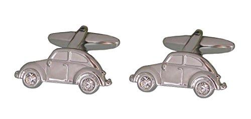 Unbekannt Manschettenknöpfe Auto PKW - Reifen sind Kristallsteine hell! Plus Silberbox