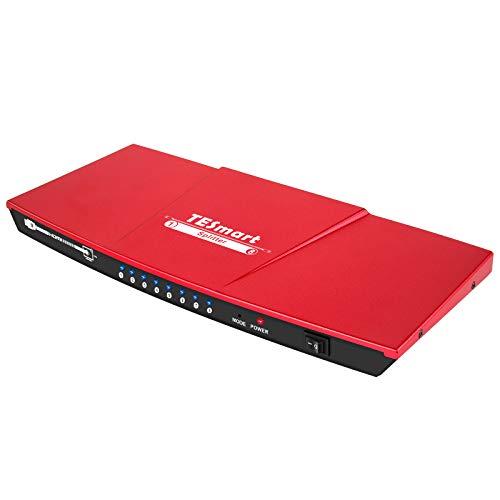 TESmart HDMI Splitter 1x8 Splitter 4K @ 30Hz Splitter 1 Eingang 8 Ausgänge Dual Video & Audio Monitor für Xbox PS3 PS4 Blu-Ray Player HDTV und weitere Geräte(Rosso)