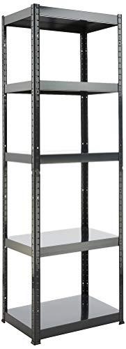 Hans schourup 13501110–Estantería con 5estantes de MDF, de hasta 275kg por balda, 180 x 60 x 40cm, color gris