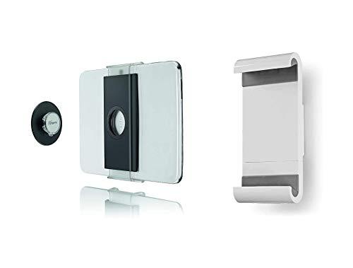Vogels TMS 1010, Paquete de Montaje de Tablet en Pared, Universal + König KNMFTM10 Soporte de Pared Fijo para ta, Blanco/Gris