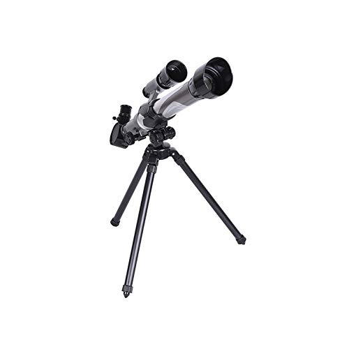 melotizhi Telescope for Kids & Beginner, Portable Telescope Toys Refractor Telescope with 3 Magnification Eyepieces & Tripod, Early Educational Science Gear for Sky Moon Star Gazing (Silver Gray)