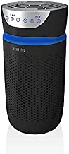 Homedics TotalClean Tower Air Purifier for Viruses, Bacteria, Allergens, Dust, Germs, HEPA Filter, UV-C Technology, 5-in-1 Purifying, Ionizer, Carbon Odor Filter for Small Rooms, Home Office, Black