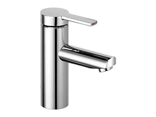 KEUCO Einhebel-Mischer, Waschtisch-Armatur für Hand-Waschbecken in Badezimmer und Gäste-WC, Höhe: 16,1 cm, Design-Wasserhahn, verchromt, Plan Blue