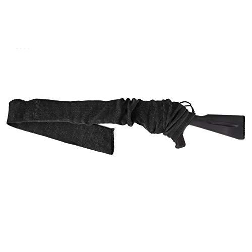 GUGULUZA Gewehrsocke Silikon Öl behandelt Knit Fabric Aufbewahrung Gewehr Socke 137,2 cm (schwarz)