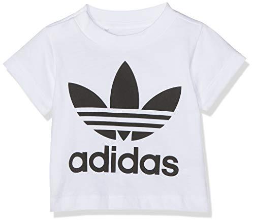 adidas Baby Trefoil T-Shirt, White/Black, 62