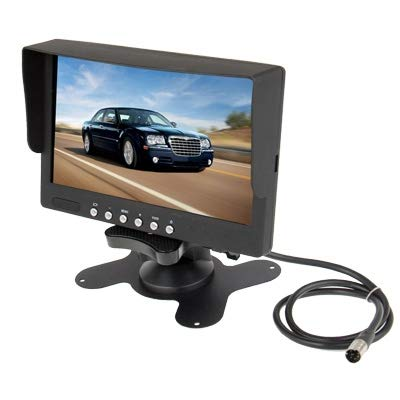 YANTAIAN Monitor de Color LCD de 7 Pulgadas/Entrada de Video bidireccional, Entrada de Audio de una Sola vía
