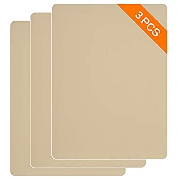 SAYOPIN Leather Repair Patch Kits for Car Seats Couches and Elbow 3 Pieces Self-Adhesive Patch for Leather and Vinyl Repair 8× 11inch Leather Sofa Repair Kits Beige