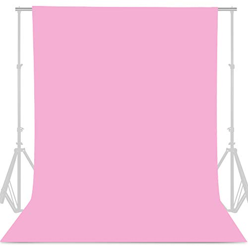 GFCC Pink Backdrop Photography Background - 10ftx10ft Pink Photo Backdrop for Photoshoot Photography Background Screen Video Recording Curtain